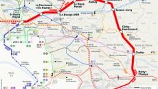Grand Paris Express : plan des lignes 14 nord, 16 et 17 sud.