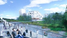 Le Journal du Grand Paris : Mantes. Vue de l'écoquartier fluvial.