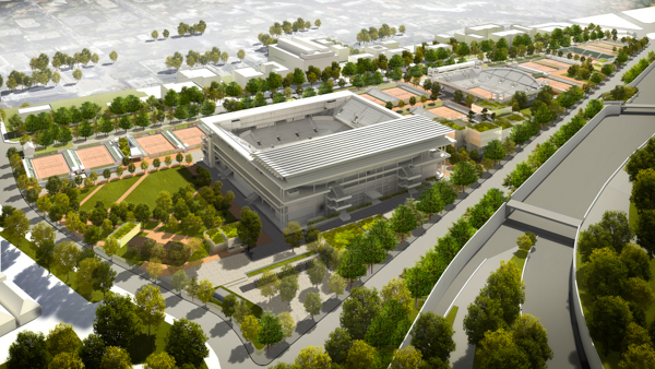 Le projet prévoit notamment un nouveau court de 5 000 places avec un toit rétractable.