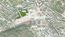 Le Journal du Grand Paris : Plan du pole d'echanges multimodal de Versailles Chantiers (sept. 2014)