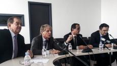 Les élus de Paris-Métropole, lors d'une récente conférence de presse ©JP