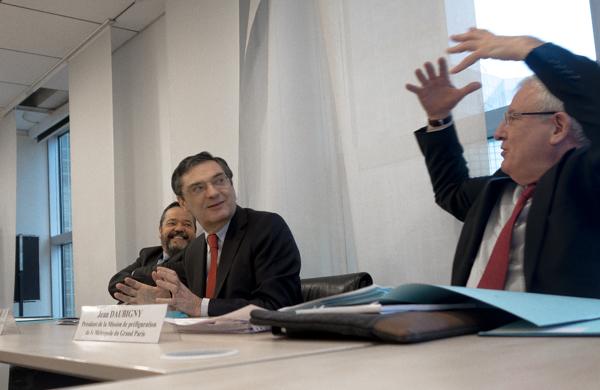 Jean Daubigny, préfet de région, Patrick Devedjian, président de Paris métropole, et François Lucas, directeur de la mission de préfiguration. ©Jp