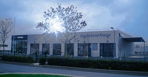 Site Scania de Fleury-Mérogis (Essonne).