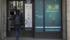 Entrée du WAI de BNP Paribas à Paris boulevard Poissonnière (2e arr.)