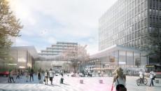 Perspective extérieure de la gare de Créteil-l'Echat - Agence Nicolas Michelin et associés.