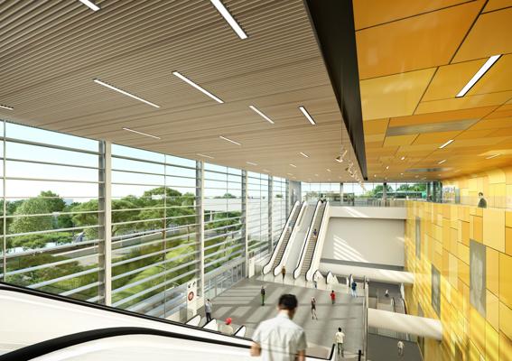 Espace intérieur de la gare de Bry-Villiers-Champigny - Richez Associés