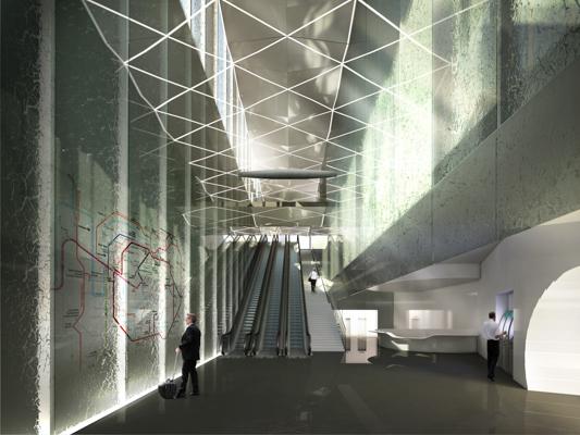 Vue intérieure de la gare d'Issy - Brunet Saunier