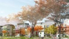 Vue de l'aménagement autour de l'A3 à Romainville
