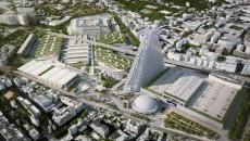Vue aérienne de la tour Triangle.