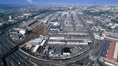 Vue aérienne du marché international de Rungis.