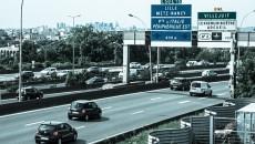 L'autoroute A6 vers Paris à la hauteur de l'Institut Gustave Roussy.