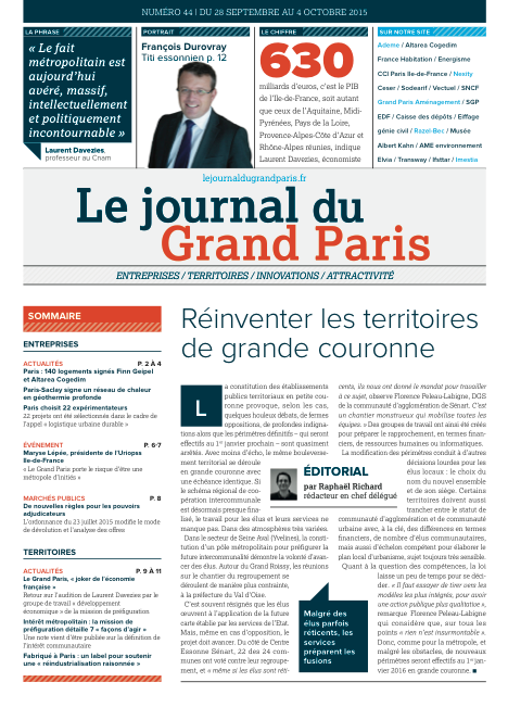 Couverture 44 - Le Journal du Grand Paris
