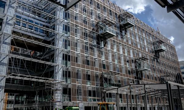 Les Dunes, 90.000 m2 de bureaux de la Société général, en construction au Val-de-Fontenay.