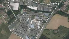 Photo aérienne de la zone du Thillay.