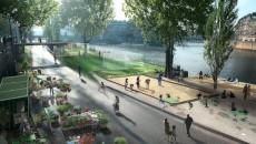 Le projet des berges de Seine, rive droite © Luxigon