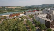 La Seine à proximité du quartier du Val Fourré, à Mantes-la-Jolie.