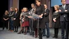 Anne Hidalgo, lors de ses voeux aux élus de Paris, mercredi 6 janvier 2016. © Jgp
