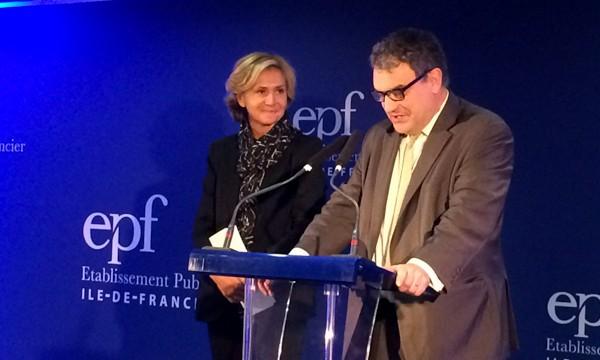 Gilles Bouvelot, lors des voeux de l'Etablissement public foncier d'Ile-de-France, le 28 janvier 2016.