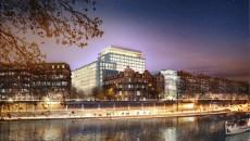 """Le projet """"Morland mixité capitale"""" vu de la Seine."""