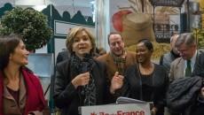 Valérie Pécresse le 27 février 2016 lors de sa visite au salon de l'agriculture.