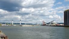 Entrée du port de Rouen.