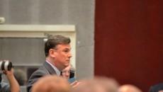 B. Beschizza lors de la première réunion publique sur le projet EuropaCity. ©JGP