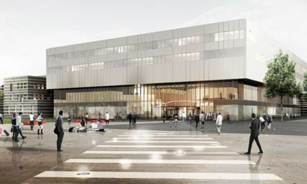 Futur bâtiment de l'Ecole Centrale à Saclay.
