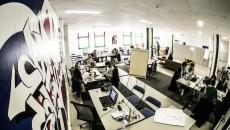 Vue de l'incubateur HEC. coworking, open space