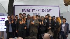 Jean-Louis Missika, Marie-Vorgan Le Barzic et les participants au programme Datacity.