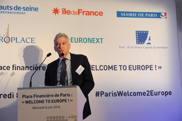 « Pour être attractif, il faut avant tout que nous soyons convaincus que nous pouvons attirer », a indiqué Christian Nibourel, président de Paris-Ile de France Capitale Economique, co-organisateur de l'événement avec Paris Europlace. © DR