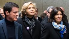 Valls, Pécresse, Hidalgo lors de l'inauguration de la gare Rosa Parks