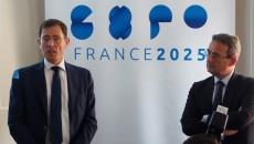 Laurent Lafon, délégué spécial de la région à l'Exposition universelle est venu montrer le soutien de l'exécutif francilien à la candidature, le 13 juillet 2016.  JGP