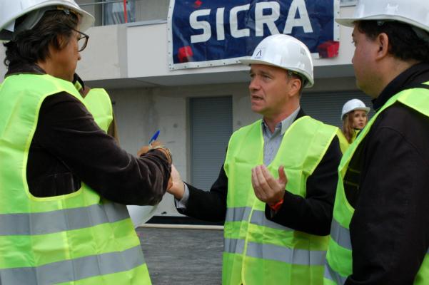 Willem Pauwels, Directeur de Paris Sud Aménagement, fait visiter le chantier Atlantis Grand Ouest à la presse, le 16 septembre 2016 - ©Jgp