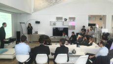 """Les start-up accompagnées par Bouygues télécom initiatives réunies dans """"La Sphère""""."""