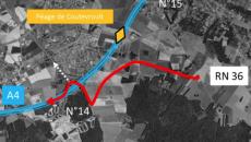 Projet de liaison entre la RN36 et l'A4 porté par le Département de Seine-et-Marne.