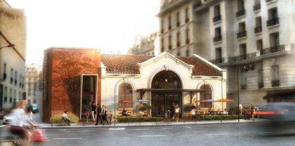 Visuel du projet de réhabilitation de la gare de Saint-Ouen.