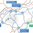 Les cinq plateformes d'évacuation fluviale et une plateforme d'évacuation ferroviaire de la SGP.