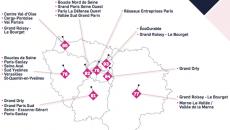 Cartographie des réseaux Plato en Ile-de-France.