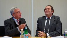 André Yché et Pierre Bédier ont fait preuve de leur complicité lors de la signature de la convention liant leurs deux institutions. ©JGP