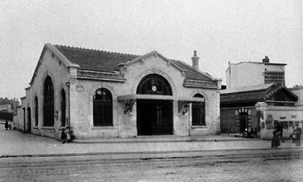 La gare Saint-Ouen à la fin du 19e siècle.