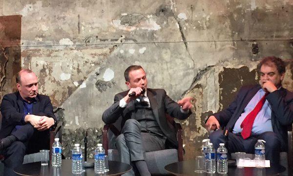 Christian Robache, maire de Montévrain (Seine-et-Marne), Willem Pauwels, directeur de Paris sud aménagement, et Gilles Bouvelot, directeur général de l'établissement public foncier d'Ile-de-France