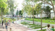 Parc urbain de la ZAC du Parc d'affaires.