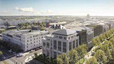 Immeuble de bureaux Bellini développé par OTI et le Groupe Legendre à Chessy.