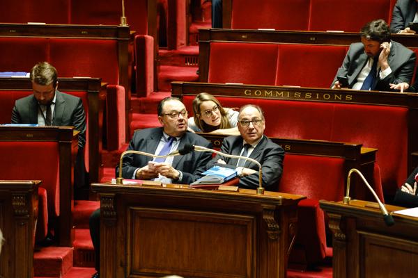 Jean-Yves Le Bouillonnec et Patrick Mennucci, rapporteurs du texte à l'Assemblée nationale ©Jgp