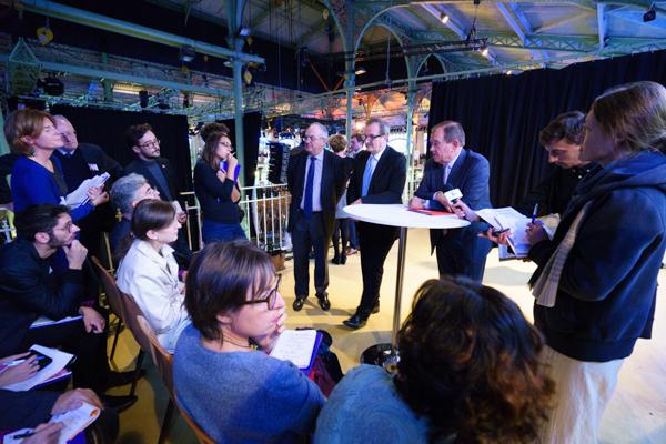 Le 10 octobre, Philippe Yvin, Jean-François Carenco et Patrick Ollier détaillent les modalités d'«Inventons la métropole du Grand Paris ». ©Jgp