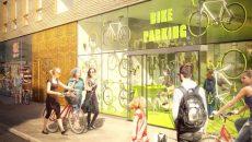 Un nouvel immeuble près de Sodra station comptera environ 300 places de parkings pour vélo.
