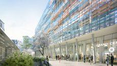 """Jacques Ferrier a voulu, avec Grand central, """"aérer cet ilot et apporter de la lumière à l'intérieur avec une façade légère et lumineuse composée d'une double enveloppe de panneaux de verre"""". © J. Ferrier/L'Autre image"""