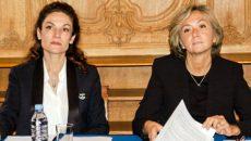 Chantal Jouanno, vice-présidente chargée de l'écologie, et Valérie Pécresse, présidente de la région Ile-de-France, le 20 février 2017, lors de la présentation du plan vert francilien 2017-2021 – ©JGP