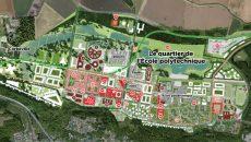 Plan du quartier de l'Ecole polytechnique