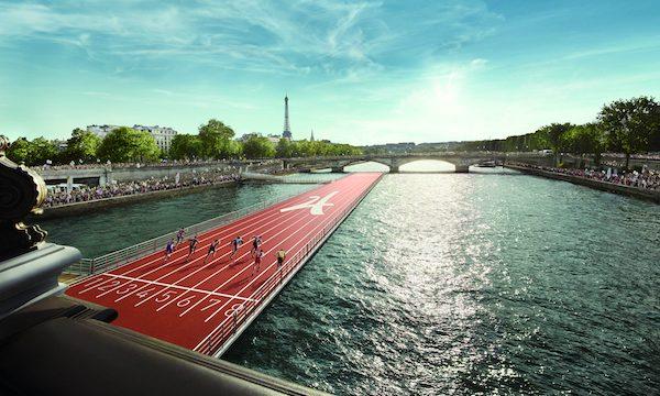 Une immense barge accueillera une piste d'athlétisme sur la Seine
